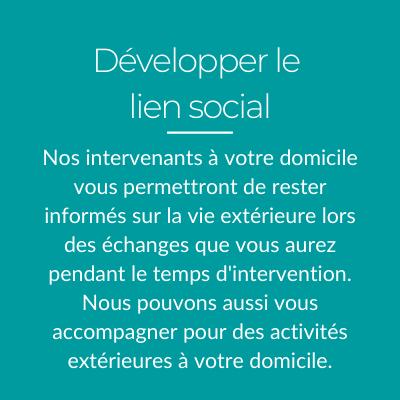 Développer le lien social